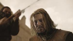 Sean Bean as Eddard Stark on Game of Thrones S01E09